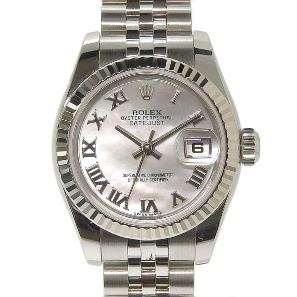 competitive price 9e796 a7114 B楽市本店 本物 ROLEX ロレックス デイトジャスト レディース オートマ 腕時計 シェル文字盤 179174NR ランダム