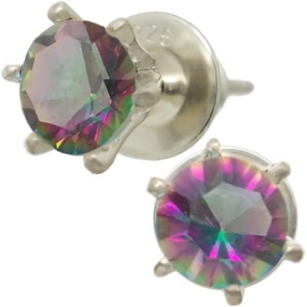 ミスティッククォーツシックスポイント シルバー ピアス(ペア)水晶使用