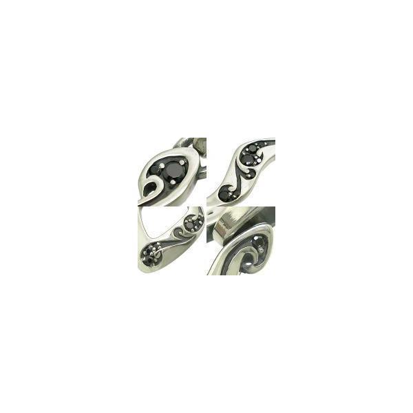 フリースタイル(FREE STYLE) [ペア]ブラックCZアラベスク シルバー ペアペンダントトップ キュービックジルコニアCZ使用