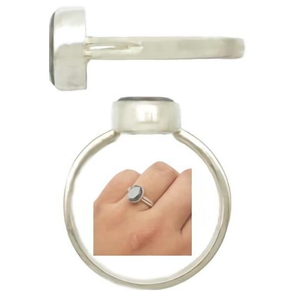 オーバルカットヘマタイト  シルバー プレーンリング(指輪)