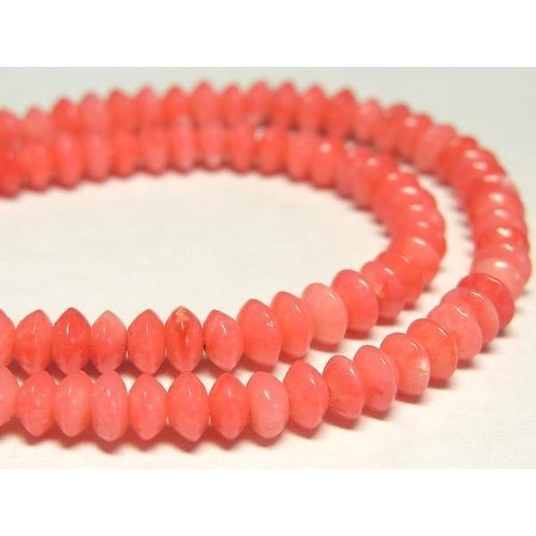 サンゴ 珊瑚 連販売 ピンク ボタン 約4×2mm 染色 アクセサリーパーツ パワーストーン ビーズ さんご サンゴ コーラル 山珊瑚 海竹