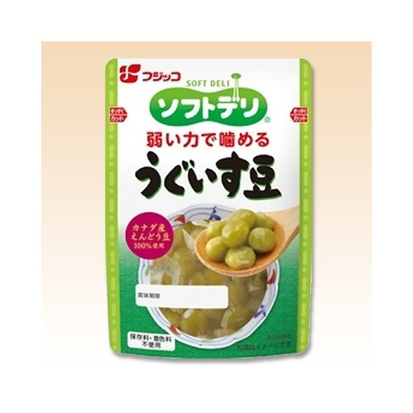 介護食 ソフトデリ うぐいす豆 140g×10個 フジッコ