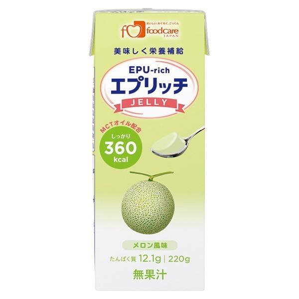介護食 高カロリー エプリッチゼリー メロン味 220g