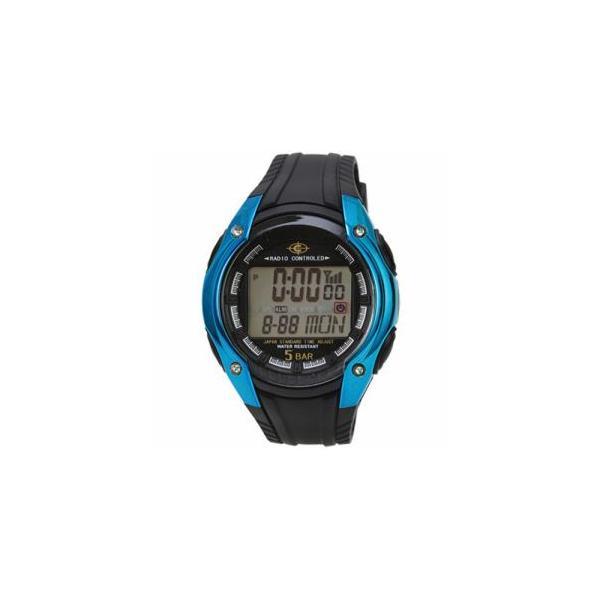 デジタル電波腕時計CYBEATブルーサンフレイムWRC16-BL