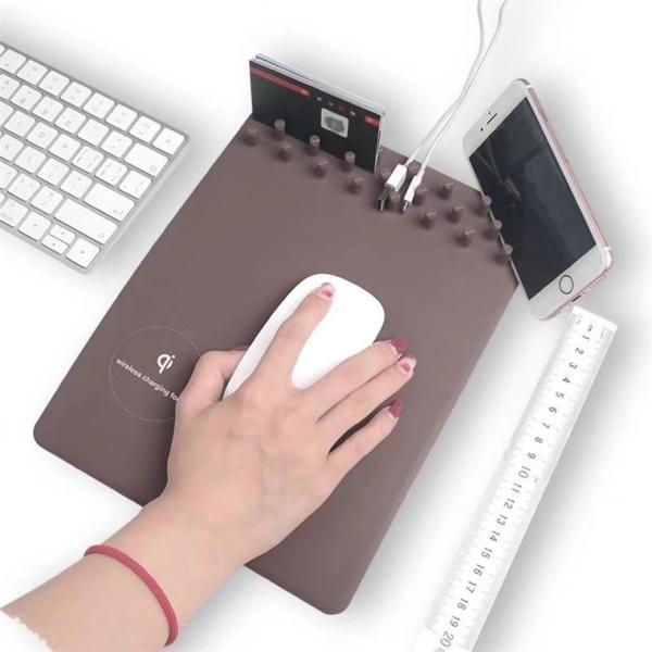 マウスパッド PC パソコン 周辺機器 おしゃれ ワイヤレス充電付き 高速 チャージボード 無線充電機能 スマホ設置台 マウスパッド 多功能 最新 人気 送料無料|babel22|05