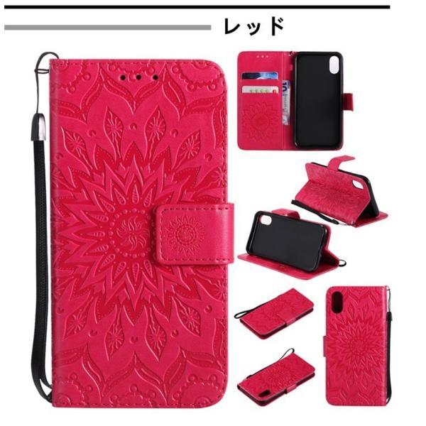iPhone ケース 全機種対応 手帳型 カバー スタンド機能 カード収納 花柄 オシャレ ストラップ アイフォン  iPhoneX スマホケース 型押し|babel22|08