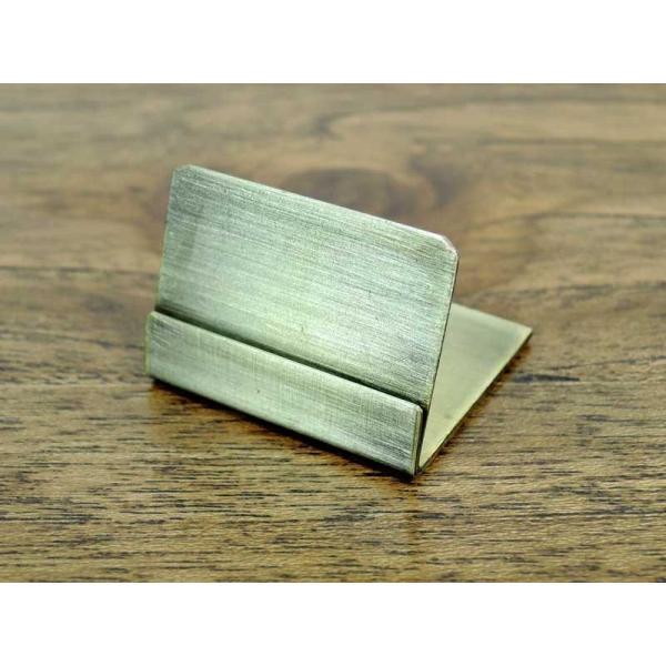 シャマール ブラスカードスタンド 3個セット 真鍮 アンティーク風 おしゃれ インテリア ディスプレイ ネームスタンド ポストカード クラシック アジアン雑貨