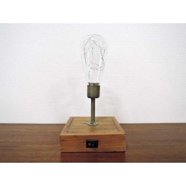 LED ランタンライト バブルスタンド スイッチ付 スタンドライト テーブルランプ 木製 アイアン 照明 おしゃれ 大人 インテリア アンティーク アジアン雑貨