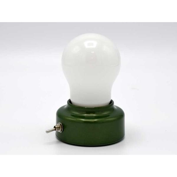 LED バルブライト バブルスタンド スイッチ付 電球 電池式 スタンドライト テーブルランプ 照明 おしゃれ 大人 インテリア アジアン雑貨