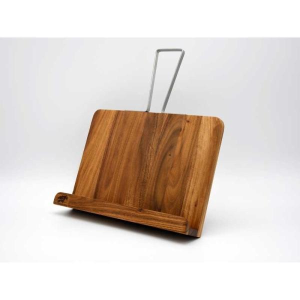 アカシア レシピスタンド ワイド ホルダー 木製 ディスプレイ タブレット iPad ブックスタンド 本立て 飾り インテリア シンプル おしゃれ アジアン雑貨