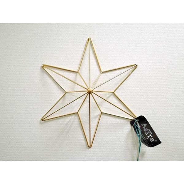 ヘキサグラム L ゴールド ウォールデコ  壁飾り 壁掛け レリーフ 六角星 インテリア おしゃれ アイアン雑貨 アジアン雑貨