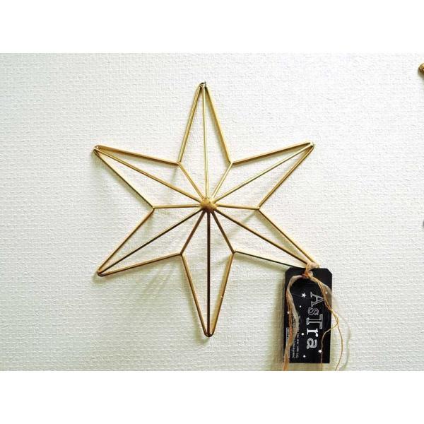 ヘキサグラム S ゴールド ウォールデコ  壁飾り 壁掛け レリーフ 六角星 インテリア おしゃれ アイアン雑貨 アジアン雑貨