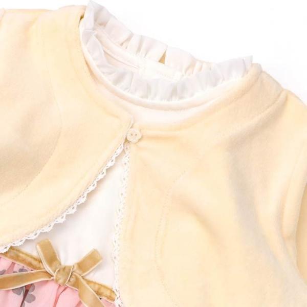 【nousノベルティ対象商品】あすつく 子供服 女の子 キムラタン Lily ivory リリー アイボリー  アンサンブル 80 90 95 100 110 120 130|baby-kids-kimuratan|03