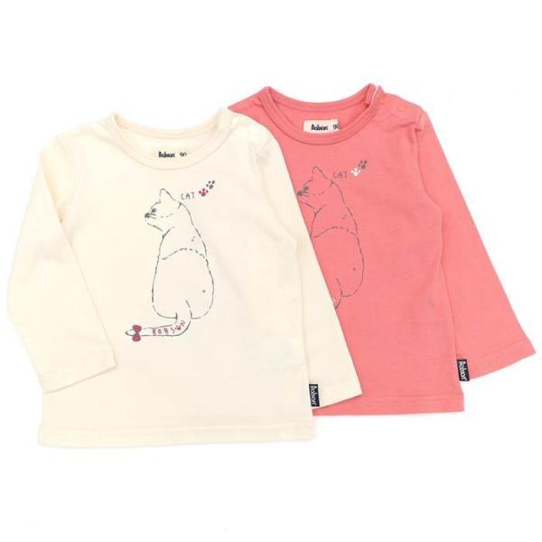 あすつく 子供服 女の子 キムラタン Bobson ボブソン  Tシャツ(長袖) 80 90 95 100 110 120 130 綿100% baby-kids-kimuratan