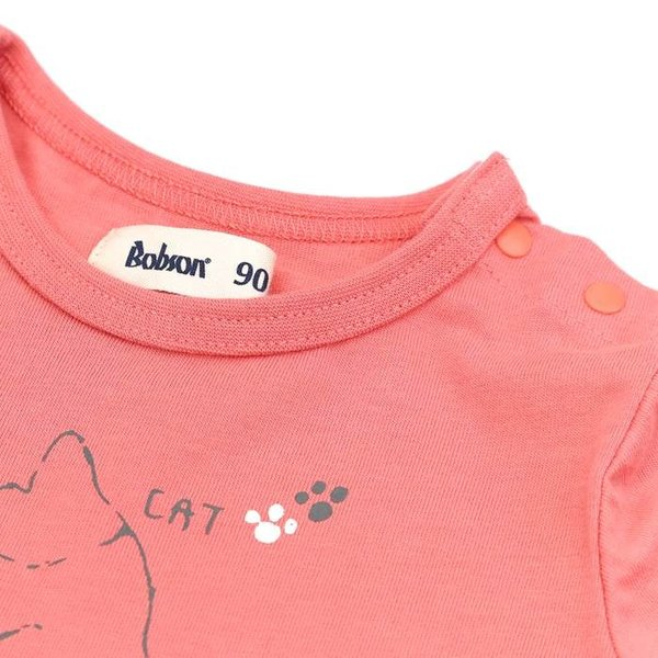 あすつく 子供服 女の子 キムラタン Bobson ボブソン  Tシャツ(長袖) 80 90 95 100 110 120 130 綿100% baby-kids-kimuratan 09