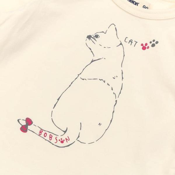あすつく 子供服 女の子 キムラタン Bobson ボブソン  Tシャツ(長袖) 80 90 95 100 110 120 130 綿100% baby-kids-kimuratan 04