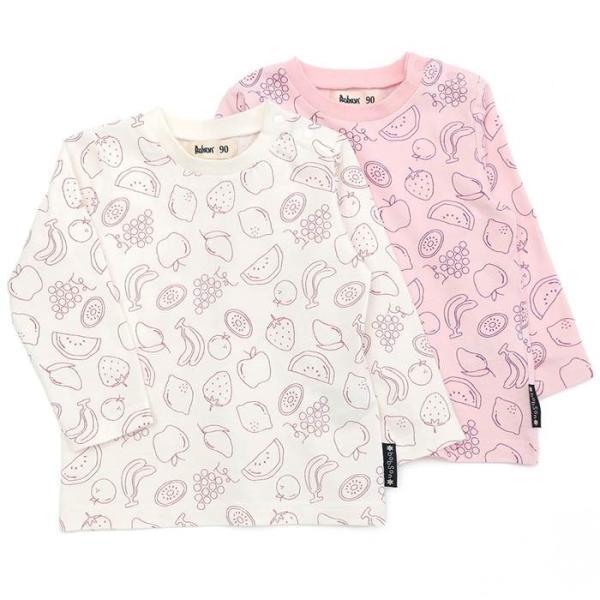 13ef26040199f あすつく 子供服 女の子 キムラタン Bobson ボブソン 長袖Tシャツ 80 90 95 100 110