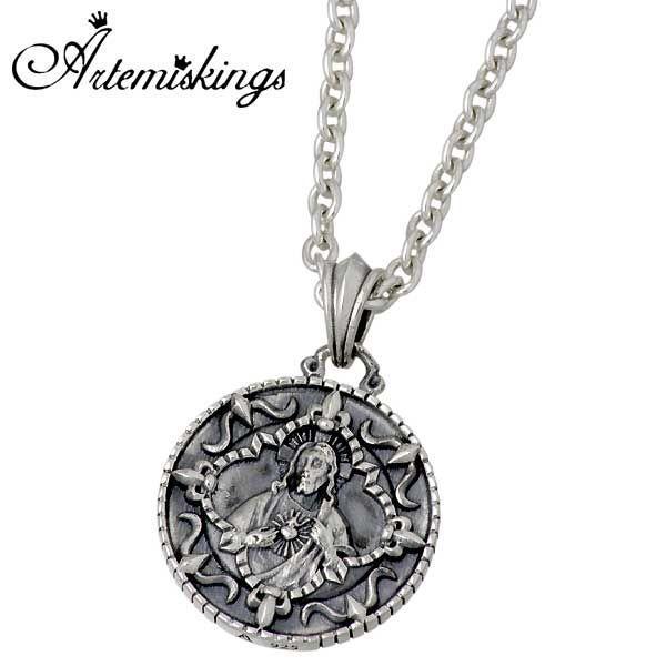アルテミスキングス Artemis Kings シルバー ネックレス メンズ レディース オーバーレイコイン