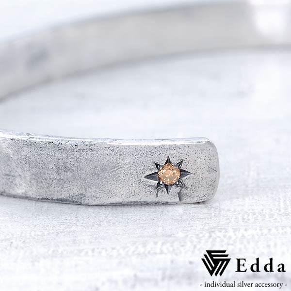 Edda エッダ シルバー バングル ブレスレット レディース ブラウンダイヤモンド