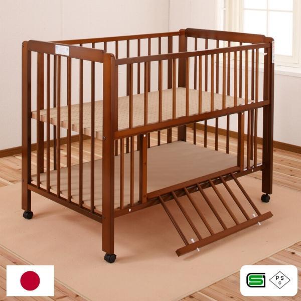 キンタロー ハイタイプ ベビーベッド ベビーベット 「ポム」お世話がしやすいハイタイプベッド|babybed