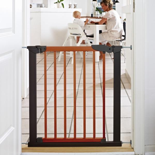 ベビーゲート 突っ張り 簡単設置 木製 セイフティーゲート ベビーダン babydan 黒 アバンギャルド|babydan|02