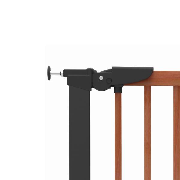 ベビーゲート 突っ張り 簡単設置 木製 セイフティーゲート ベビーダン babydan 黒 アバンギャルド|babydan|04