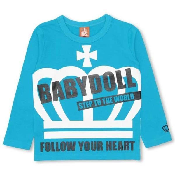 50%OFF SALE ベビードール BABYDOLL 子供服 BIG王冠ロンT キッズ-9474K|babydoll-y|09