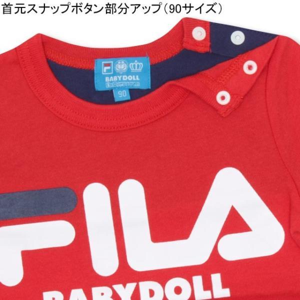 30%OFF SALE ベビードール BABYDOLL 子供服 ドラえもん FILA バックキャラ Tシャツ 男の子 女の子 ベビーサイズ キッズ-1205K|babydoll-y|06