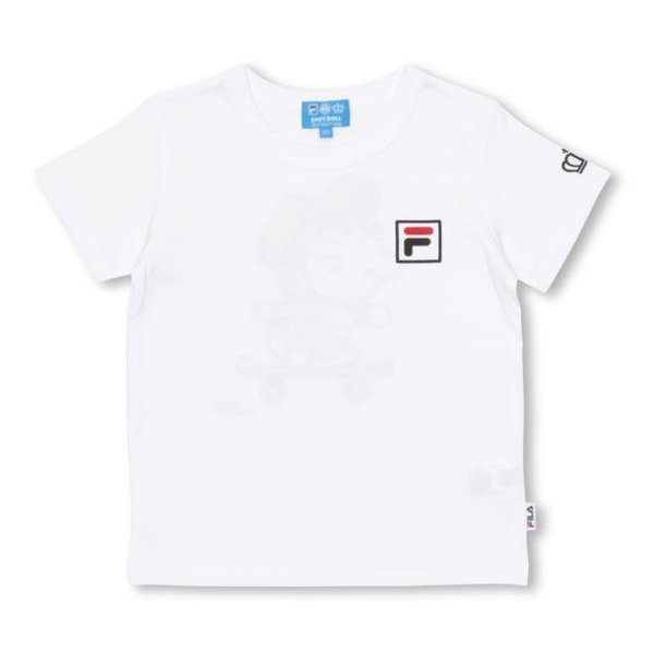 30%OFF SALE ベビードール BABYDOLL 子供服 ドラえもん FILA 胸ロゴ Tシャツ 男の子 女の子 ベビーサイズ キッズ-1209K babydoll-y 02