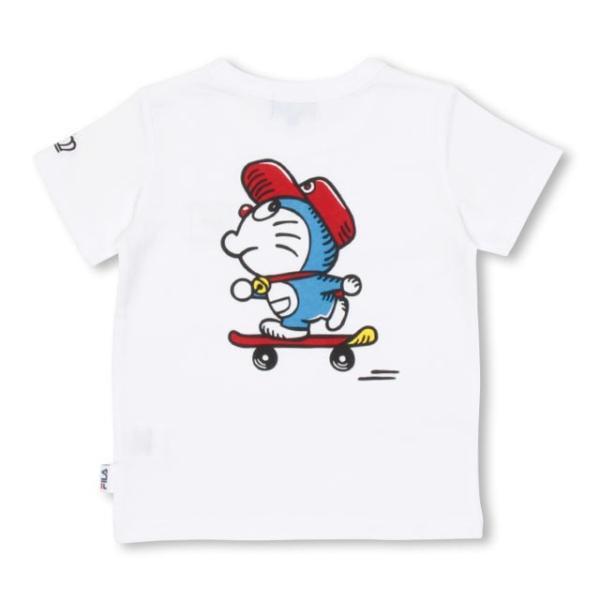 30%OFF SALE ベビードール BABYDOLL 子供服 ドラえもん FILA 胸ロゴ Tシャツ 男の子 女の子 ベビーサイズ キッズ-1209K babydoll-y 03