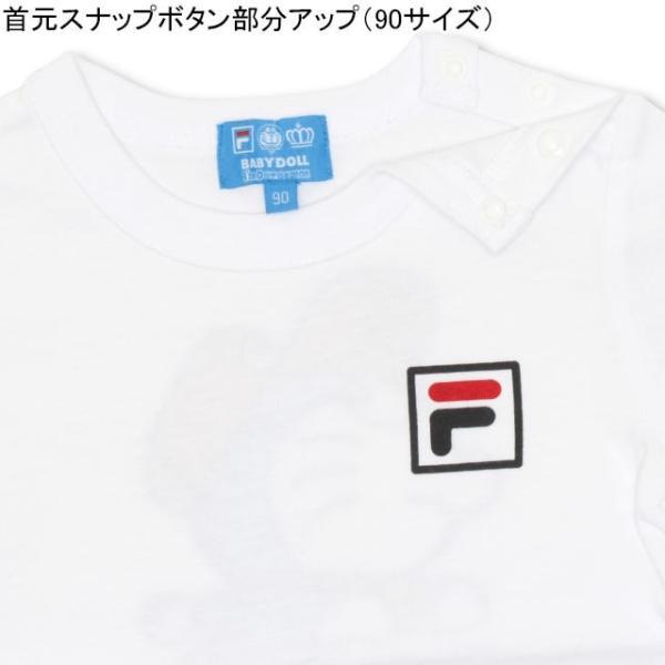 30%OFF SALE ベビードール BABYDOLL 子供服 ドラえもん FILA 胸ロゴ Tシャツ 男の子 女の子 ベビーサイズ キッズ-1209K babydoll-y 04