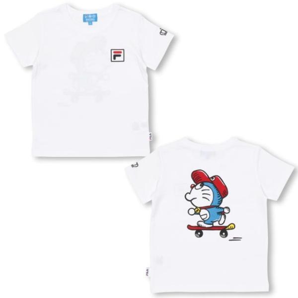 30%OFF SALE ベビードール BABYDOLL 子供服 ドラえもん FILA 胸ロゴ Tシャツ 男の子 女の子 ベビーサイズ キッズ-1209K babydoll-y 07