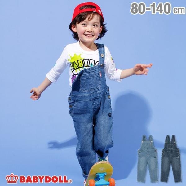 30%OFF SALE ベビードール BABYDOLL 子供服 デニム サロペット 2118K ベビーサイズ キッズ 男の子 女の子 babydoll-y