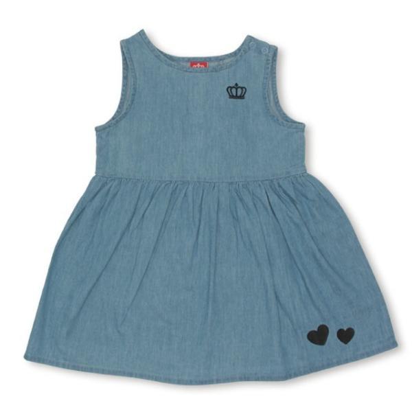 50%OFF SALE ベビードール BABYDOLL 子供服 リボン付き デニム ワンピース 2267K キッズ 女の子|babydoll-y|02