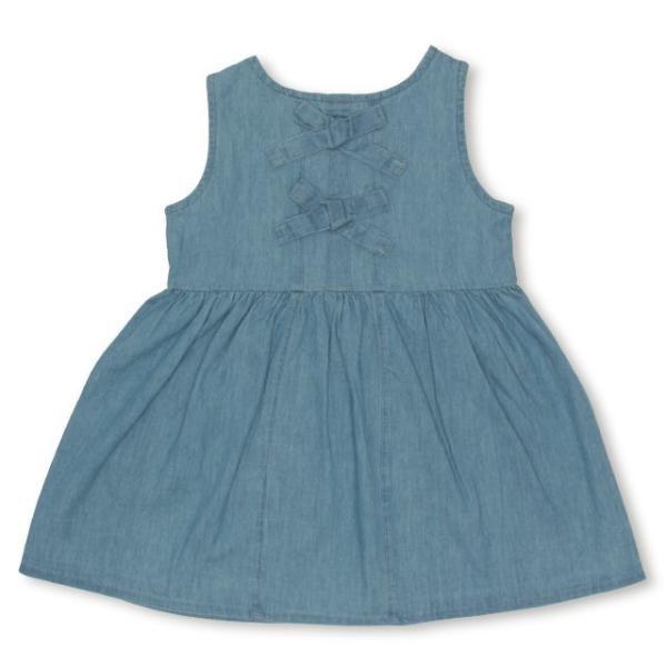 50%OFF SALE ベビードール BABYDOLL 子供服 リボン付き デニム ワンピース 2267K キッズ 女の子|babydoll-y|03