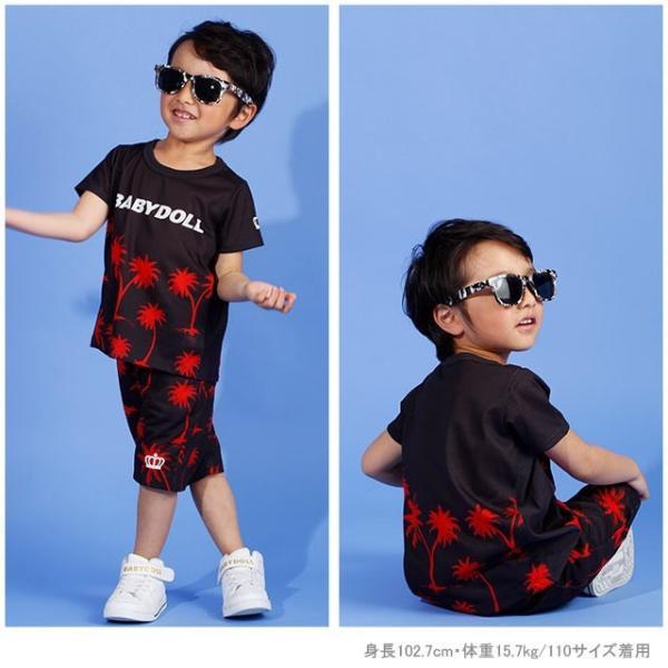 ベビードール BABYDOLL 子供服 親子お揃い ヤシの木柄 Tシャツ 2412K (ボトム別売) キッズ 男の子 女の子 30s|babydoll-y|07
