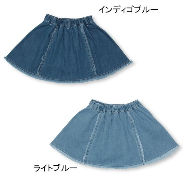 30%OFF SALE ベビードール BABYDOLL 子供服 PINKHUNT PH デニムフレア スカート 2512K キッズ ジュニア 女の子|babydoll-y|03