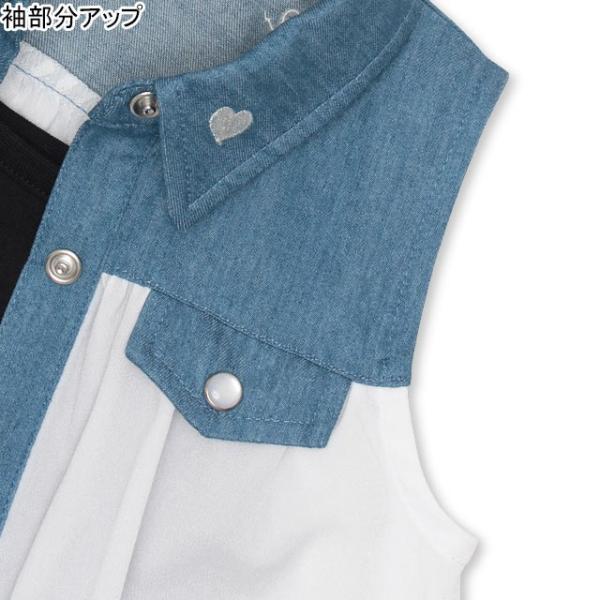 30%OFF SALE ベビードール BABYDOLL 子供服 キャミ付き デニム 切替 シャツ 2626K キッズ 女の子|babydoll-y|05