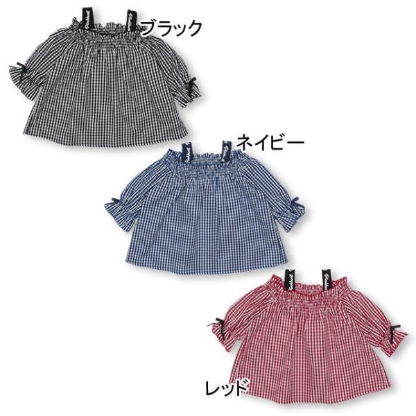 30%OFF SALE ベビードール BABYDOLL 子供服 PINKHUNT PH ギンガム チュニック Tシャツ 3142K (ボトム別売) キッズ ジュニア 女の子|babydoll-y|02