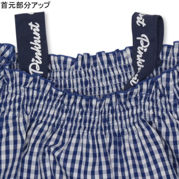 30%OFF SALE ベビードール BABYDOLL 子供服 PINKHUNT PH ギンガム チュニック Tシャツ 3142K (ボトム別売) キッズ ジュニア 女の子|babydoll-y|04