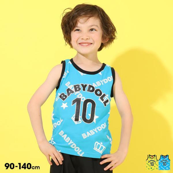 50%OFF SALE ベビードール BABYDOLL 子供服 タンクトップ ロゴ総柄 5202K キッズ 男の子 女の子