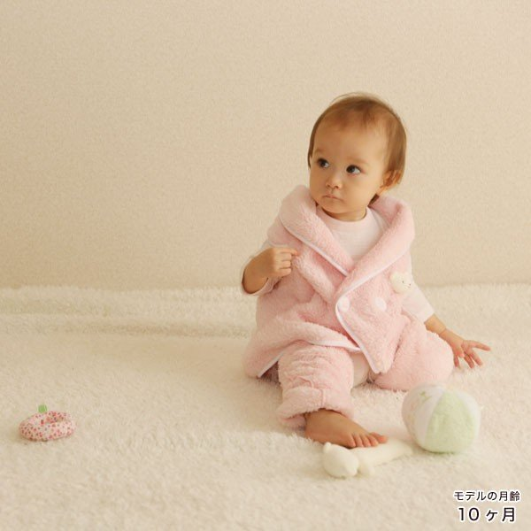 赤ちゃん ベスト 防寒 体温調節が苦手なベビーのための『くまさんあったかルームベスト』|babygoose|13