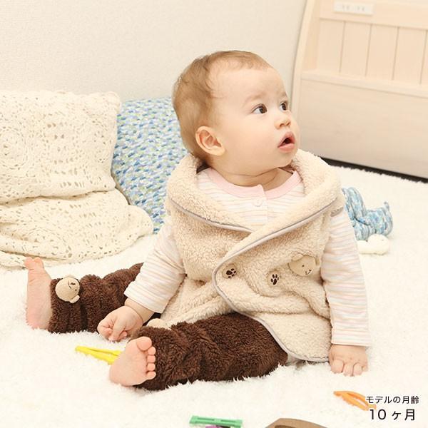 赤ちゃん ベスト 防寒 体温調節が苦手なベビーのための『くまさんあったかルームベスト』|babygoose|14