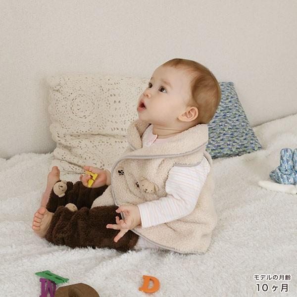赤ちゃん ベスト 防寒 体温調節が苦手なベビーのための『くまさんあったかルームベスト』|babygoose|15