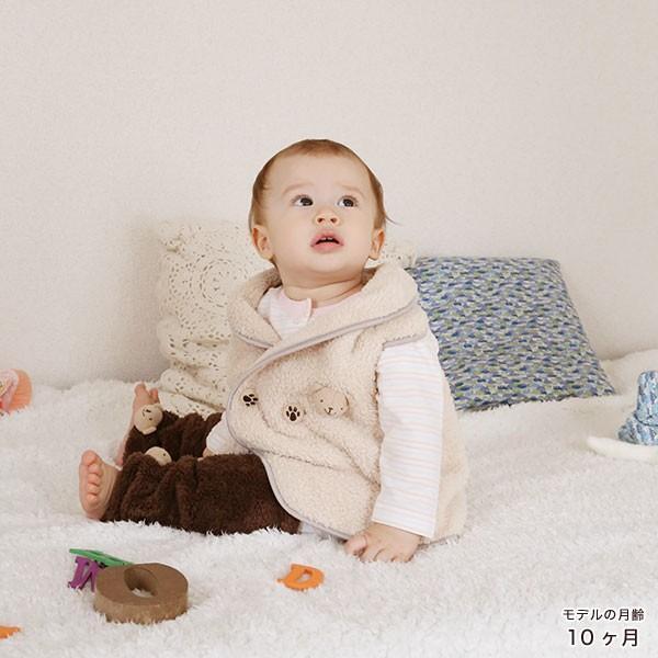 赤ちゃん ベスト 防寒 体温調節が苦手なベビーのための『くまさんあったかルームベスト』|babygoose|16