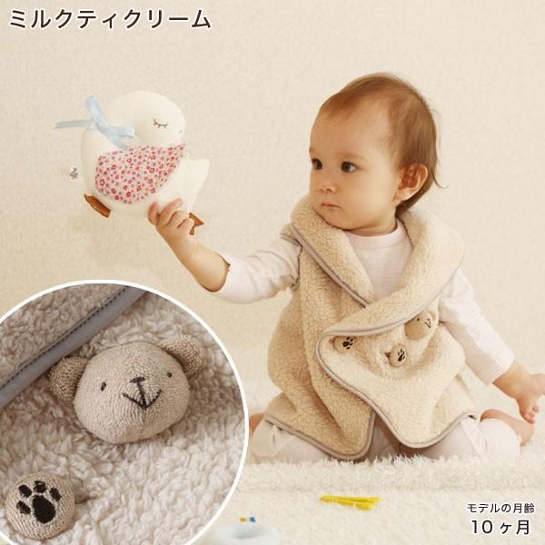 赤ちゃん ベスト 防寒 体温調節が苦手なベビーのための『くまさんあったかルームベスト』|babygoose|08