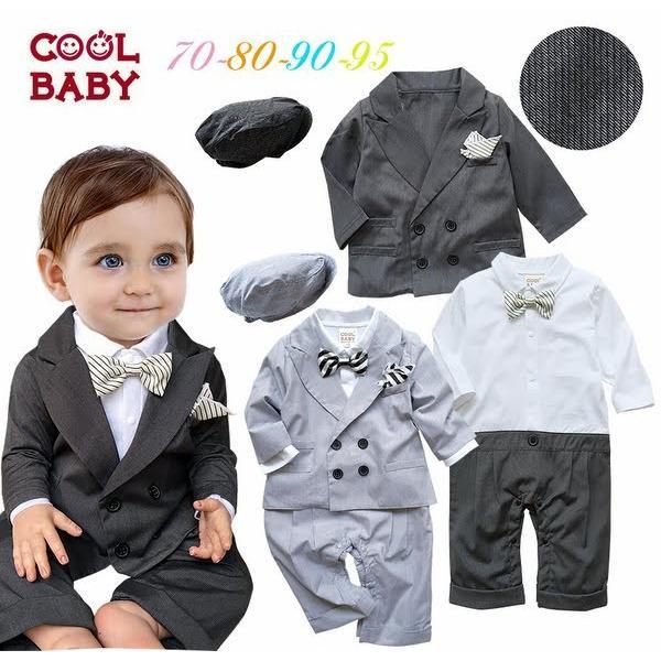 43b7b643b9a85 ベビー子供服0歳-3歳男の子用洋服長袖 タキシード フォーマルスーツ服 ...