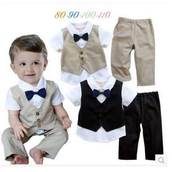 1db1a85407181 ベビー子供服0歳-3歳男の子用洋服半袖 タキシード フォーマルスーツ服 ...