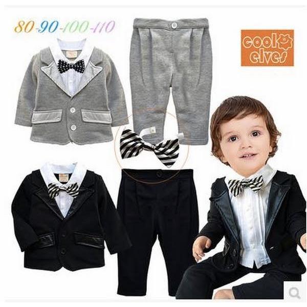 ee833a1aea518 ベビー子供服0歳-4歳男の子用洋服タキシード フォーマルスーツ服 上下 ...
