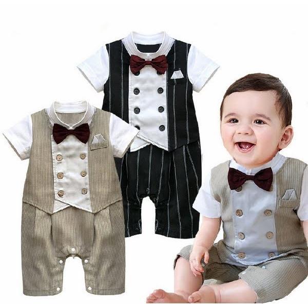 1d2e1c1f4d7c4 ベビー子供服0歳-2歳男の子用洋服半袖 タキシード フォーマルスーツ服 ...